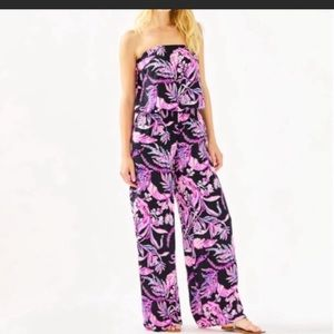 🆕 Lilly Pulitzer PIM jumpsuit Onyx wildn within🆕
